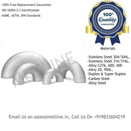 180 Deg Elbow Manufacturers, Suppliers, Factory