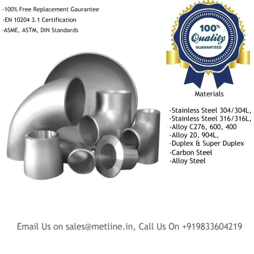 Buttweld Pipe Fittings Manufacturers, Suppliers, Factory