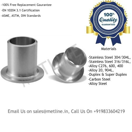 Pipe Stub Ends Manufacturers, Suppliers, Exporters, Factory