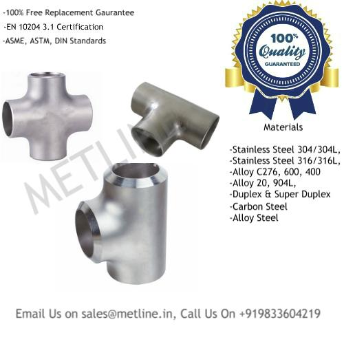 Pipe Tee Cross Tee Manufacturers, Suppliers, Exporters, Factory