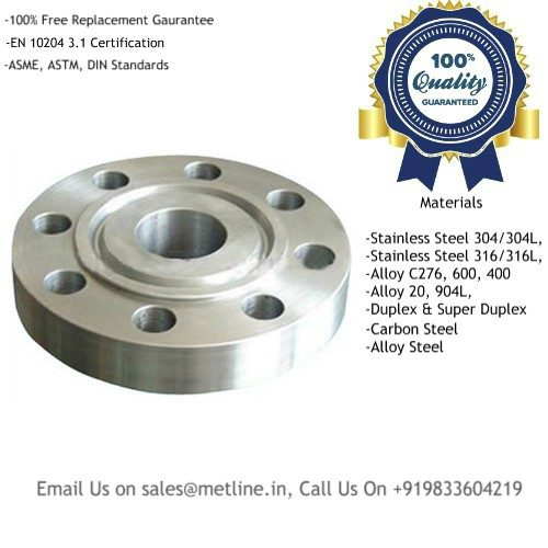 Ring Type Joint Flanges Manufacturers, Suppliers, Factory