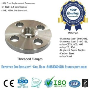 Threaded Flanges Manufacturers, Suppliers, Factory
