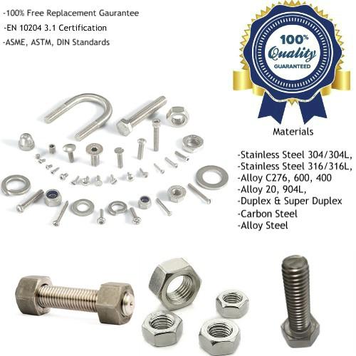 Titanium Fasteners Manufacturers, Suppliers, Factory
