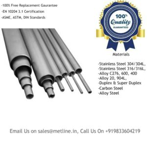 Titanium Pipes & Tubes Manufacturers, Suppliers, Factory