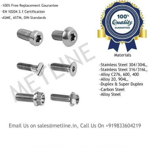 Screws Manufacturers, Suppliers, Exporters, Factory