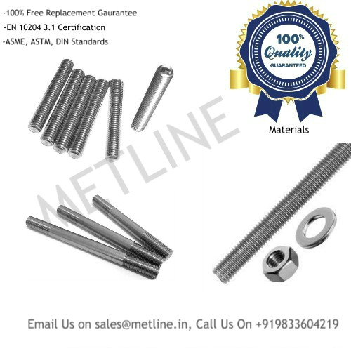 Studbolts, Threaded Bars Manufacturers Suppliers, Factory
