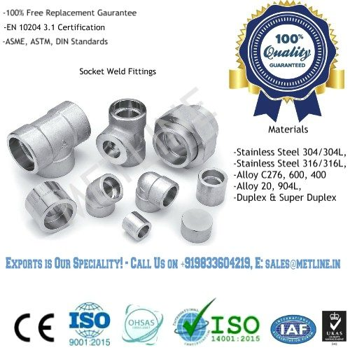 Socket Weld Pipe Fittings Manufacturers, Suppliers, Exporters, Factory