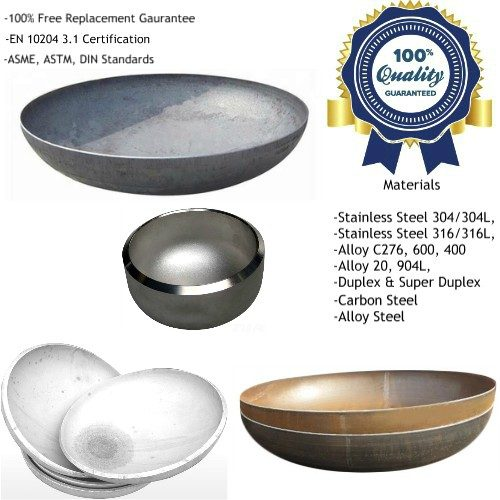 Pipe End Caps Dished End Manufacturers, Suppliers, Factory