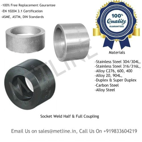 Socket Weld Half & Full Coupling Manufacturers, Suppliers, Factory