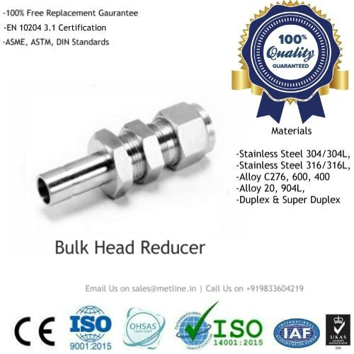Bulk Head Reducer Manufacturers, Suppliers & Factory - Instrumentation Tube Fittings