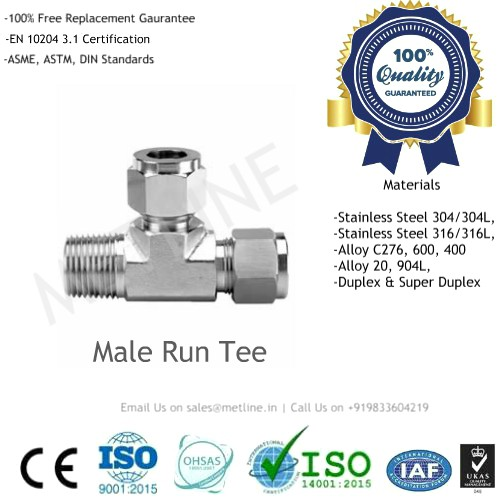 Male Run Tee Manufacturers, Suppliers, Factory - Instrumentation Tube Fittings