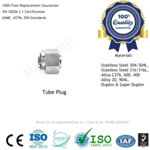 Tube Plug Manufacturers, Suppliers & Factory - Instrumentation Tube Fittings