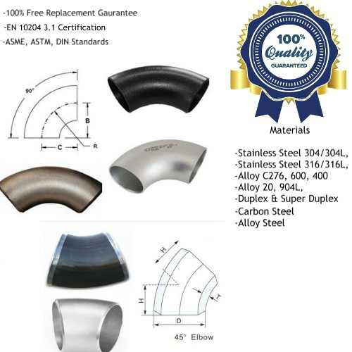 Long Radius Elbow Manufacturers, Suppliers, Factory