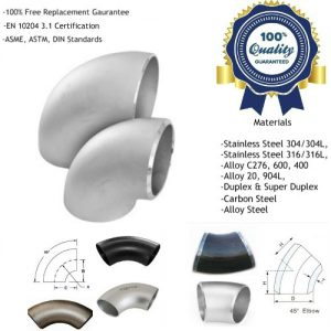 Stainless Steel Short Radius Elbow Manufacturers, Suppliers, Factory